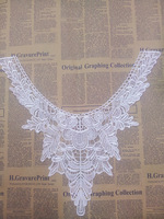 Wholesale DIY Handmade Tree Leaf Lace Patch Vintage Collar Lace for Clothes Home Decoration, White Sewing Lace Neck Collar Patch