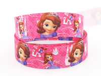 "New style 22mm Sophia Princess,7/8"" Ribbon Printed Grosgrain,Clothes Accessories DIY handmade 50 yards/roll x-1092 Free shipping"