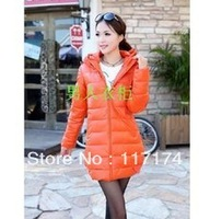 free shipping 2013 new tide fashion Korean Ladies winter Pu self-cultivation in long down coats of female money cotton coat