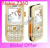 7360 Original Unlocked Nokia 7360 mobile phone Bluetooth Camera Vedio FM Classic Cheap Cell phone 1  year warranty  Free S/H