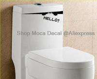 Bathroom Toilet Peeping Voyeur Washroom Wall Decal Vinyl Stickers DIY Required