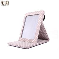 Classic desktop makeup mirror portable folding mirror princess vanity mirror birthday gift 7