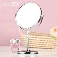 8 desktop makeup mirror vanity mirror double faced Large fashion stainless steel desktop mirror