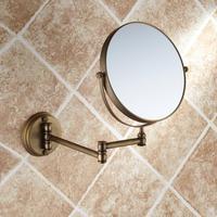 Antique bathroom folding bathroom makeup mirror retractable folding magnifier beauty mirror