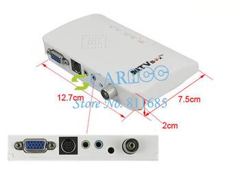New External LCD VGA PC Monitor TV Tuner Box Built-in Speaker 17306