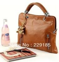 new 2014 Hot sale brown bag shoulder bag fashion women handbag Wholesale free shipping [without bear hanging decoration ] B027