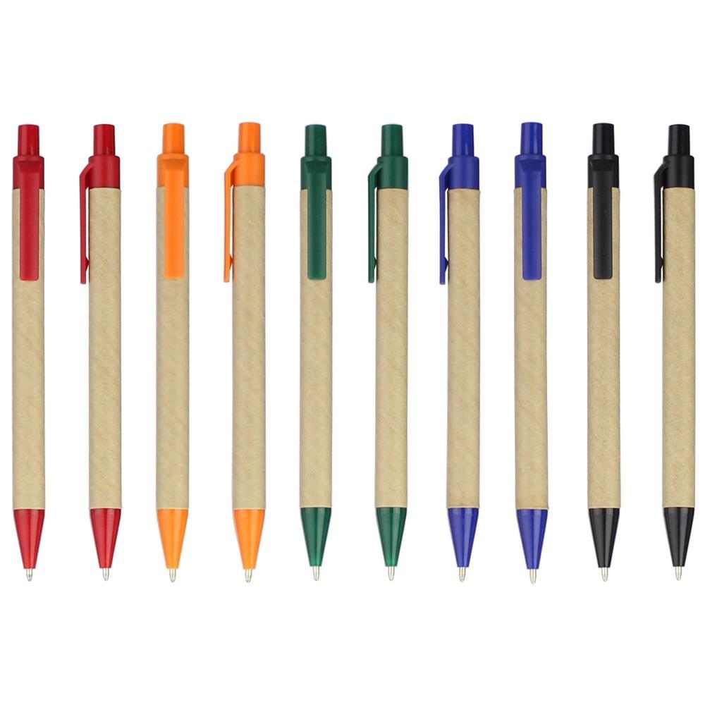 Lot 50pcs Eco paper pen,platic clip green concept environmental friendly ballpoint pen wholesale,customized promotion logo gift(China (Mainland))
