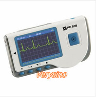 FREE SHIPPING, New Color Display,CE,FDA approved,Portable, Easy ECG monitor RTPC-80B