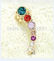 Hot sale Earrings fashion 2015 new ear cuffs charms cryastal earring for women on ear No pierced jewelry