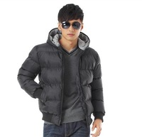Free shipping New winter men fashion casual warm Slim Short solid color zipper cotton snow down coats sports jackets W0238
