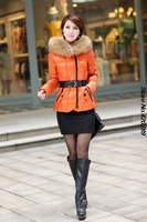 2013 new special parkas for women winter fur collar long parka winter jacket women down parkas women long parka duck down