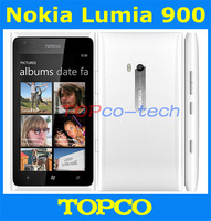 "Original unlocked Nokia Lumia 900 3G GSM mobile phone 4.3"" WIFI GPS 8MP 16GB Windows Mobile OS smartphone Free shipping"