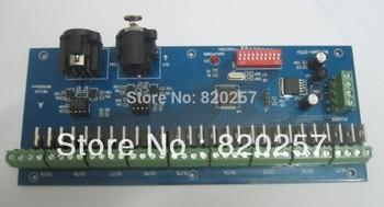 Free shipping 27 channel easy DMX LED controller;dmx decoder& driver, DC7~24V Max 15A DMX512 X RL 3P For LED Strip Module