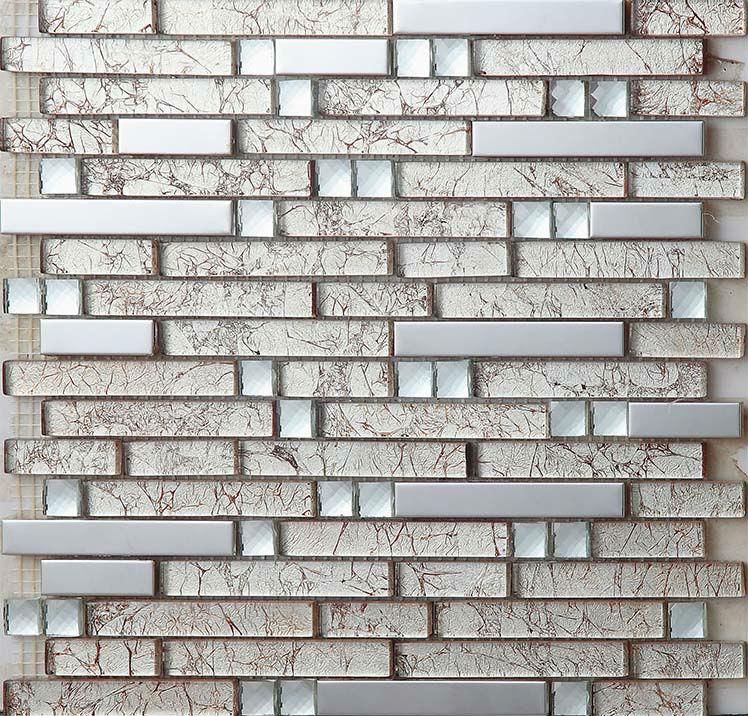 stainless steel tiles kitchen backsplash diamond crystal glass metal