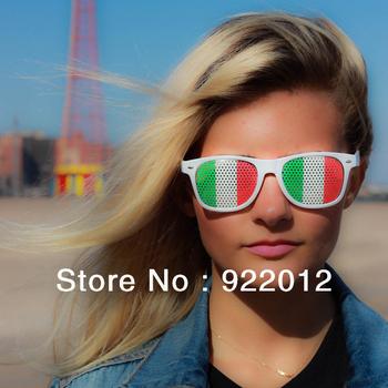 Italy logo glasses, Flag glasses ,Fashion party glasses, logo on lens glasses