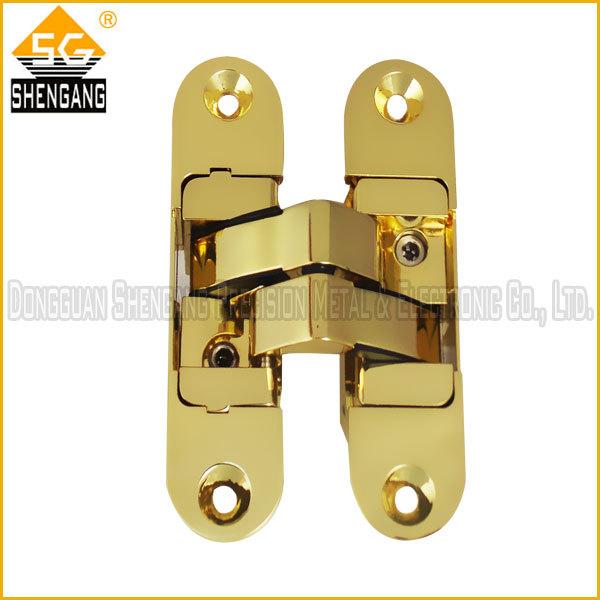 gold door hinge concealed hinge 3d door hinge 180 hidden hinge for wood door new product 2013(China (Mainland))