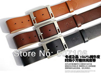 2013 New Hot Sale Fashion Casual Genuine Leather Business belts ,Man Classic Design Waistbands, Free China Post Shipping