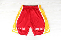 Free Shipping,2013 New Material Rev 30 Houston Basketball Shorts,Embroidery and Sewing Logos,Size S--XXL,Mix Order