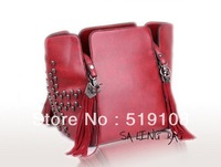 2013 fashion handbags designers skull tassel rivet  vintage women's bucket handbag B&B00V