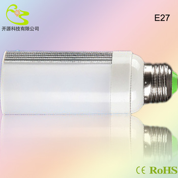 Free shipping 7w 5050 e27 horizon led corn lamp 630lm High quality 85-265v horizon down lighting 7W E27