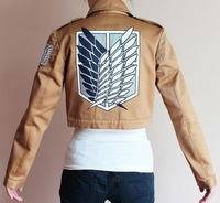 Halloween Attack on Titan Shingeki no Kyojin Scouting Legion Survey Legion jacket imitation leather cosplay costume