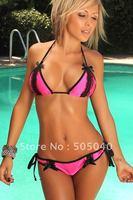 Free Shipping Wholesale and Retails Fashion Promotion Price Sexy bikinis Women Swimwear Ladies'  Allure Brand Swimsuit 3090