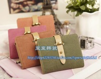 2013 New Lady's nubuck leather buckle rivet women's short design wallet Women wallet women's wallet