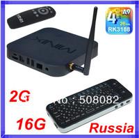[ Russian Keyboard ] Minix NEO X7 RK3188 Android 4.2 Quad Core TV Box Cortex-A9 RJ45 2GB RAM 16GB ROM XBMC Wifi Antenna