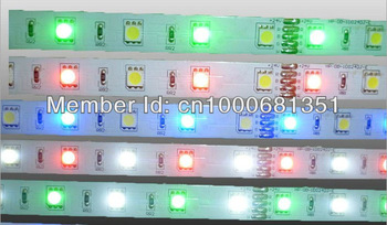 Free Shipping via Fedex IE 100M/lot NEW flexible RGBW Strip light led SMD 5050 RGB + white 6000K