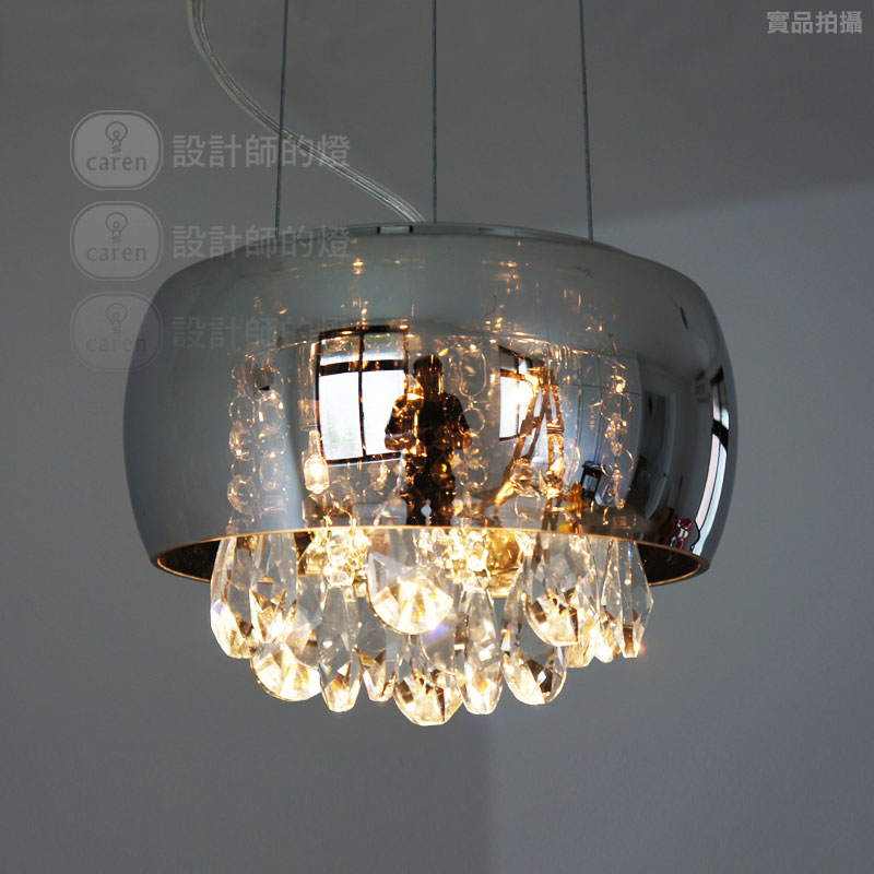 Brief modern glass crystal teardrop Pendant light/lighting/lamp for living room&dinning room Free shipping new arrival 2014(China (Mainland))