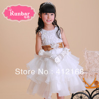 2014 Brand   girls  flower girl   princess dress costume puff  tulle dress  Children's