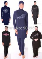 New Arrivals 2014 Free shipping islamic swimsuits islamic swimwear muslim swimwear