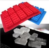 Wholesale & Retail buiding block Silicone Ice Cube Tray Mold Maker Party Kitchen DIY brick Ice Cream Mold Maker