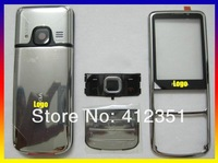 New Silvery Color Original full housing cover case door + buttons + keypads 1 set For NOKIA 6700 6700c, Free Shipping