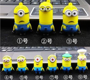 Despicable Me Series Full Capacity USB Flash Drive1GB 2GB 4GB 8GB 16GB 32GB Pen Disk Memory