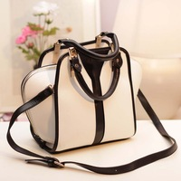 2014 Brand Fashion Vintage Sweet Girl Candy Color Metal Buckle Female Women Handbag Shoulder Messenger Bucket Bag Tote 140604M