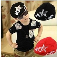 High Quality Spring and autumn child five-pointed star diamond hat cotton children cap baby beret hat QH00006
