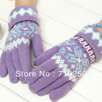 Hot Sale ,Free shipping,high quality women's fashion gloves Knitted Gloves Warm Winter girl's gloves 7 colors,A331