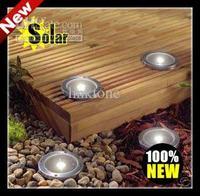 Free Shipping Solar Stainless Steel 1 LED underground light Ground Landscape Garden Light,solar LED buried lamp,solar lawn lamp.