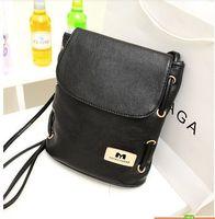 Promotion! 2014 Fashion women leather handbags small bucket bag vintage bags women messenger bags candy color shoulder bag
