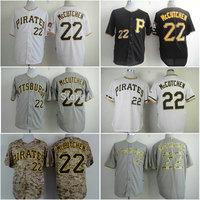 Cheap Pittsburgh Pirates shirts #22 Andrew McCutchen baseball Jersey cool base white gray black free shipping!