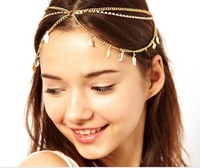 ZH0602 IVY Store crystal hair accessories forehead headbands fashion jewelry 2013 elastic headband (Min Mix Order $10)