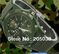 new quartz watch Military Army Pilot Fabric Strap Sports Men's gemius army Military Watch 154