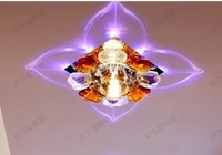 Free shipping 3W Led Crystal Lamp Entrance Lights Ceiling Light Modern Wholesale AC85-265V Colorful