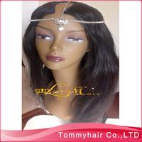 FREE SHIPPING  hot sale Brazilian virgin hair  U part  Wig,Super cheap U shaped Wig natural straight ,1B,130% density