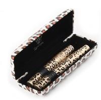 Wholesale - 2 Magic Leopard Lashes Fiber Mascara Brush Eye Black Long Makeup Eyelash Grower 2 Pcs in One leopard box 3 boxes/Lot