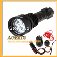 2013 TrustFire New style Diving Flashlight TR-DF003 3*CREE XM-L T6 LED 5-mode 3800LM Free shipping