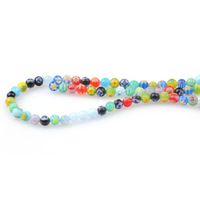 Wholesale 1040pcs/lot colorful pattern 4mm round Murano Lampwork glass beads jewelry making fit bracelet necklace earrings DIY