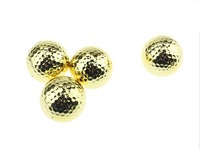 Free Shipping 2014 New Arrival Two Piece Golden Golf Balls With Golf Ball 24pcs