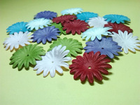 Scrapbook 2.7cm Mixed 6Colors Paper Flower For Scrapbooking Decoration Free Shipping Wholesale Diy Accessory